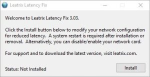 Leatrix Latency Fix Screenshot
