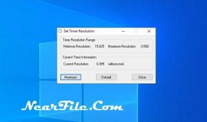 Timer Resolution Screenshot