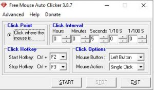 Free Mouse Auto Clicker Screenshot