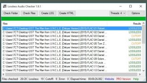 Lossless Audio Checker Screenshot