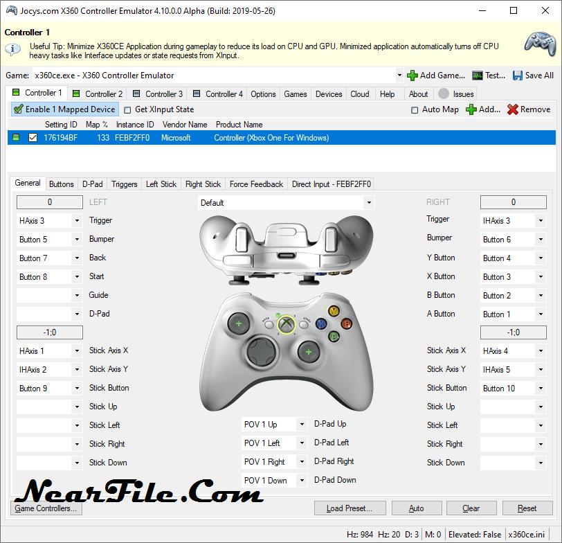 x360ce Screenshot