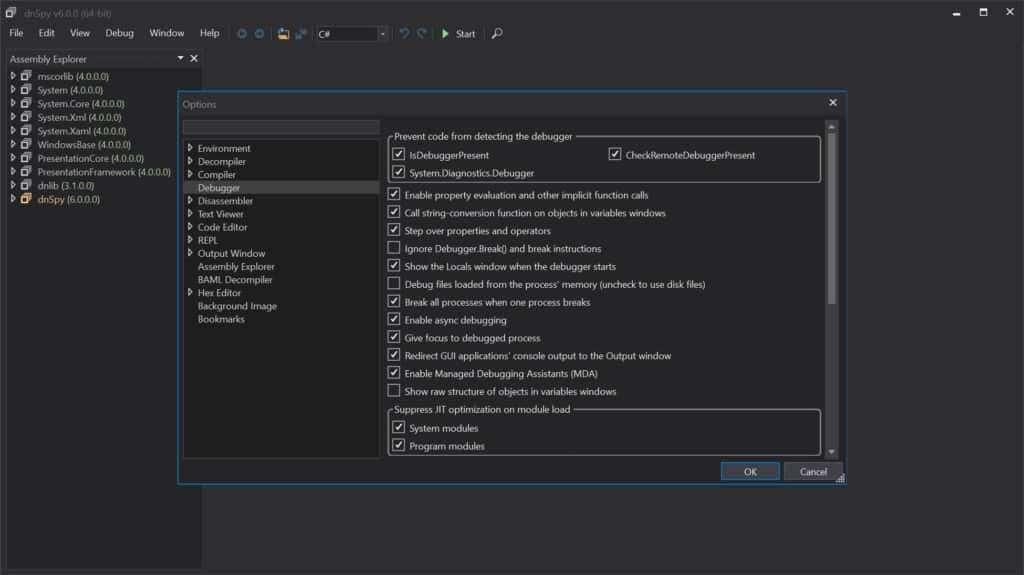 dnSpy Screenshot