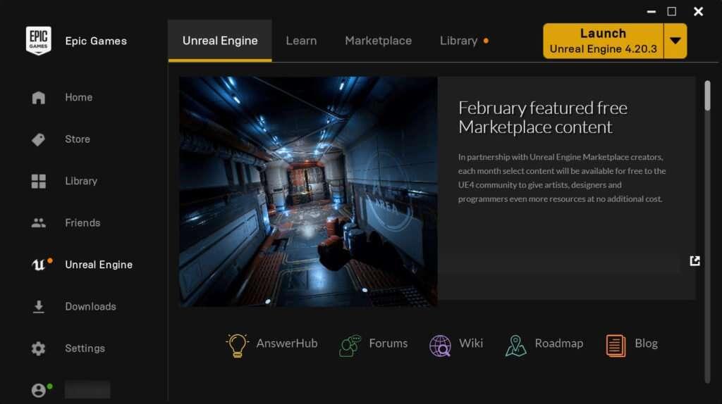 Epic Games Launcher Screenshot
