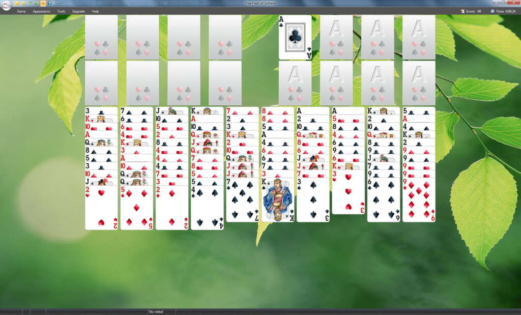 Free FreeCell Solitaire Screenshot