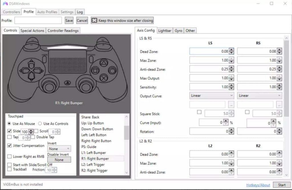 DS4Windows Screenshot