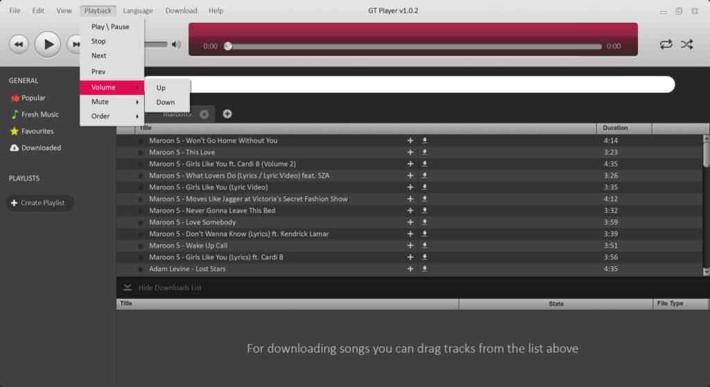 GTPlayer Screenshot