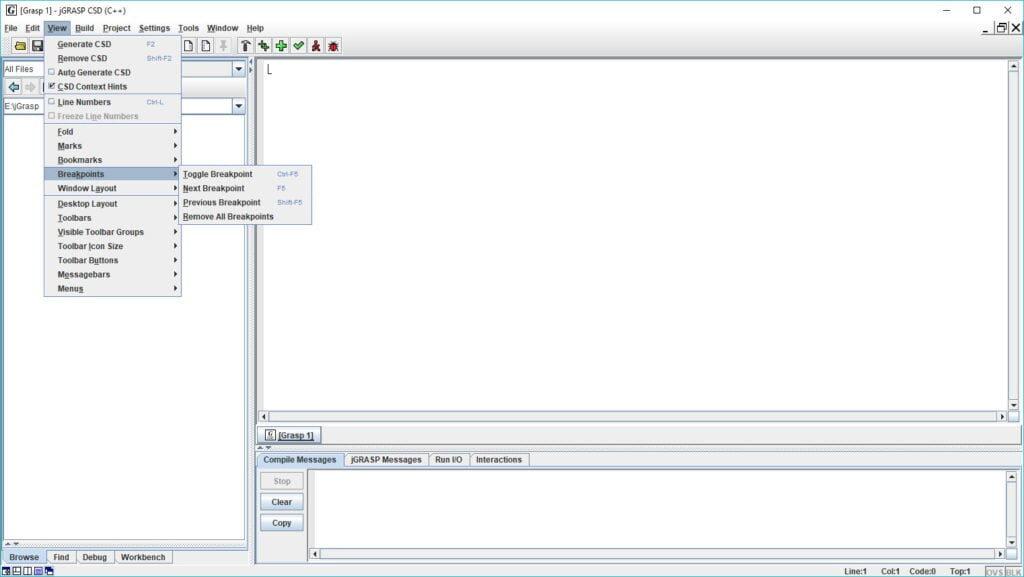 jGRASP Screenshot