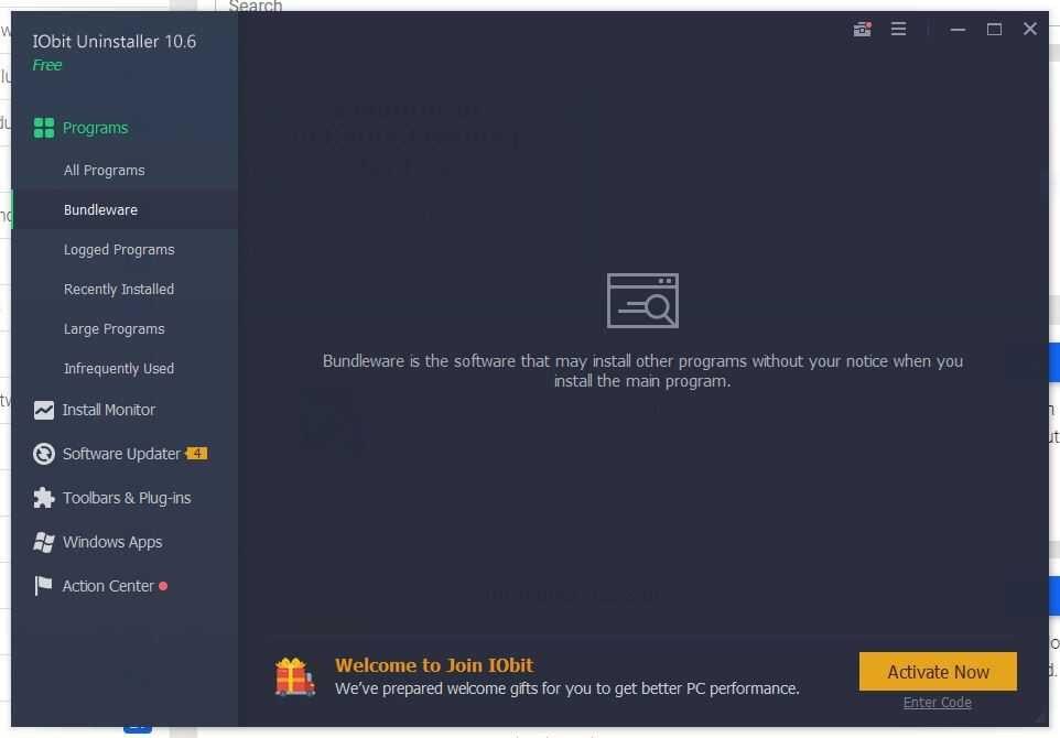 IObit Uninstaller Screenshot
