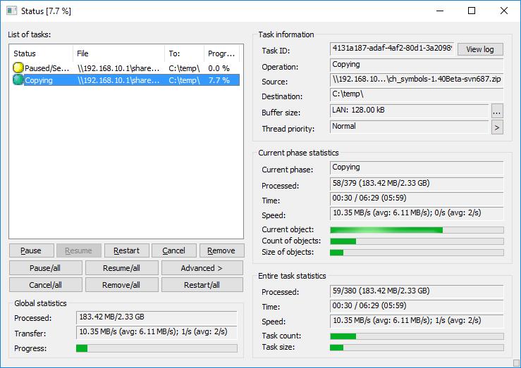 Copy Handler Screenshot