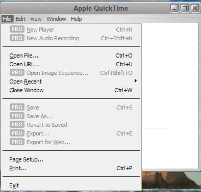 QuickTime Player Screenshot
