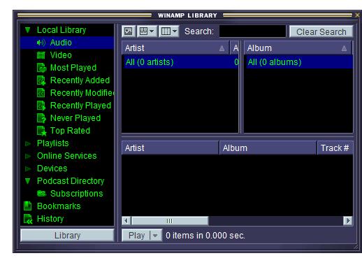 Winamp Player Screenshot