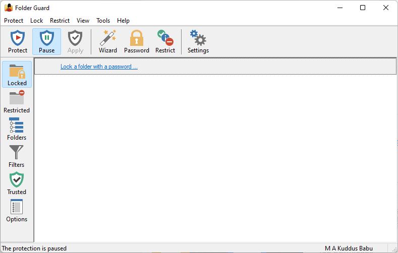 Folder Guard Screenshot