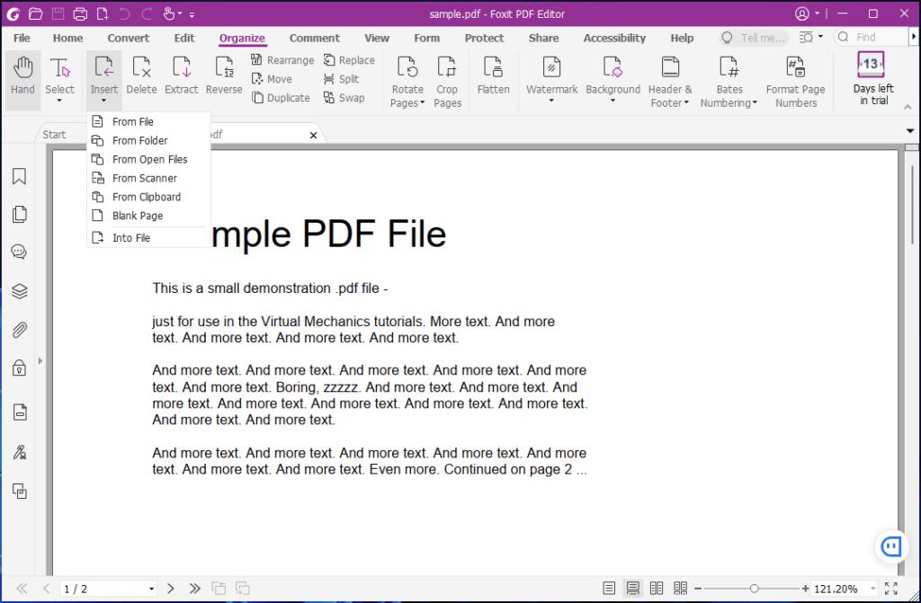 Foxit Advanced PDF Editor Screenshot