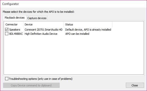 Equalizer APO Screenshot