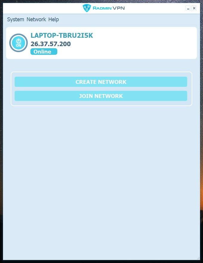 Radmin VPN Screenshot