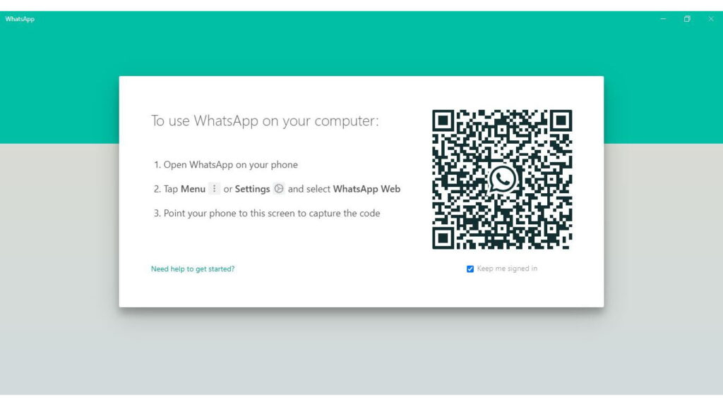 WhatsApp For Windows Screenshot