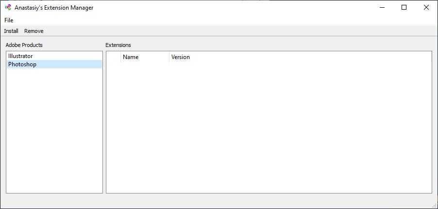 Anastasiy's Extension Manager Screenshot